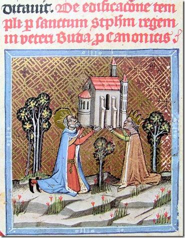 467px-Chronicon_Pictum_P042_Óbudai_templom_alapítása