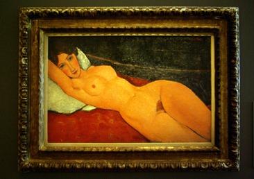 Nu au coussin blanc Amadeo Modigliani