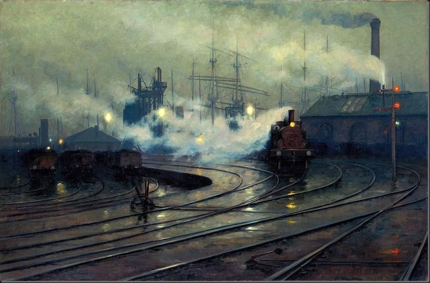 Cardiff_Docks_by_Lionel_Walden